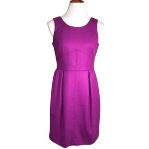 J Crew Violet Purple Tailored Fit Sleeveless Dress